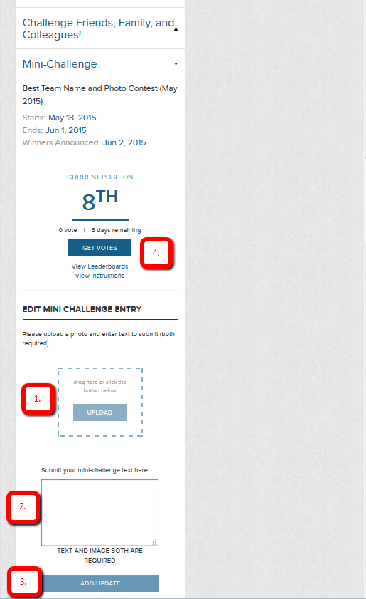 Mini Challenge Entry Instructions New Dashboard
