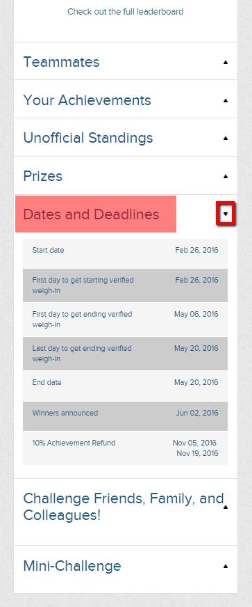 Dates Deadlines Widget
